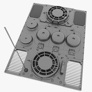 E-100 Engine Deck model
