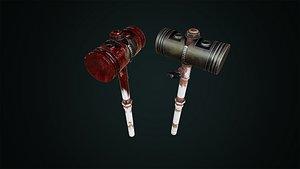 Post Apocalyptic Piston Hammer 3D model