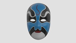 chinese style face mask model