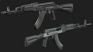AK 103-3D-Model-Low-Poly 3D