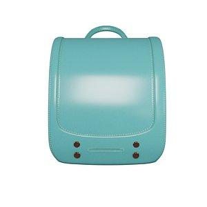 3D model student blue bag v7