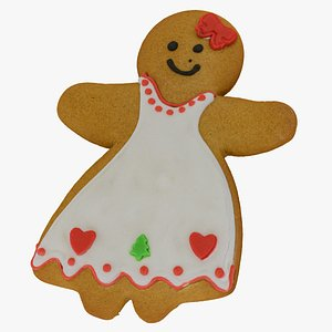 Gingerbread Woman Cookie 01 RAW Scan model