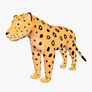 3D panther wildlife