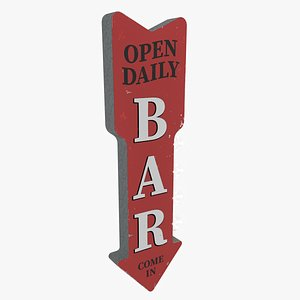 bar open daily led 3D model