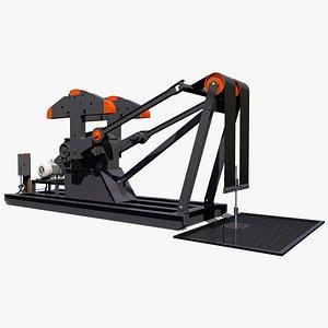 3D model profile pumpjack pump