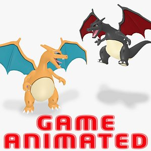 POKEMON CHARIZARD Animated Game Already 3D model