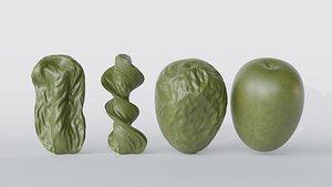 3D olive seed model